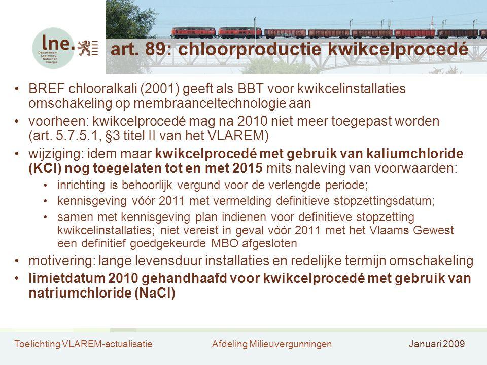 art. 89: chloorproductie kwikcelprocedé