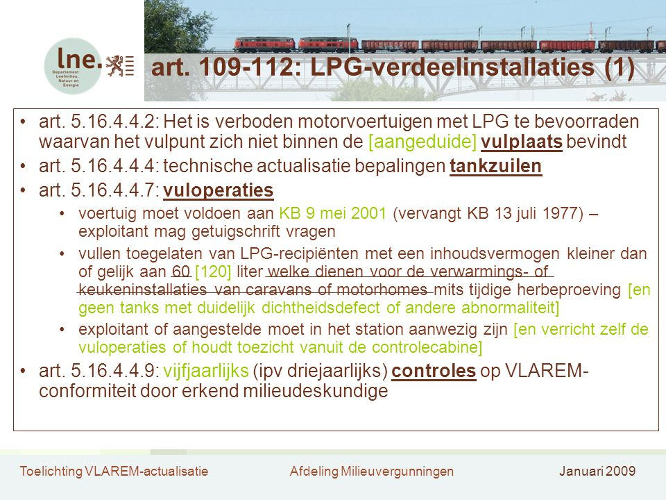 art. 109-112: LPG-verdeelinstallaties (1)