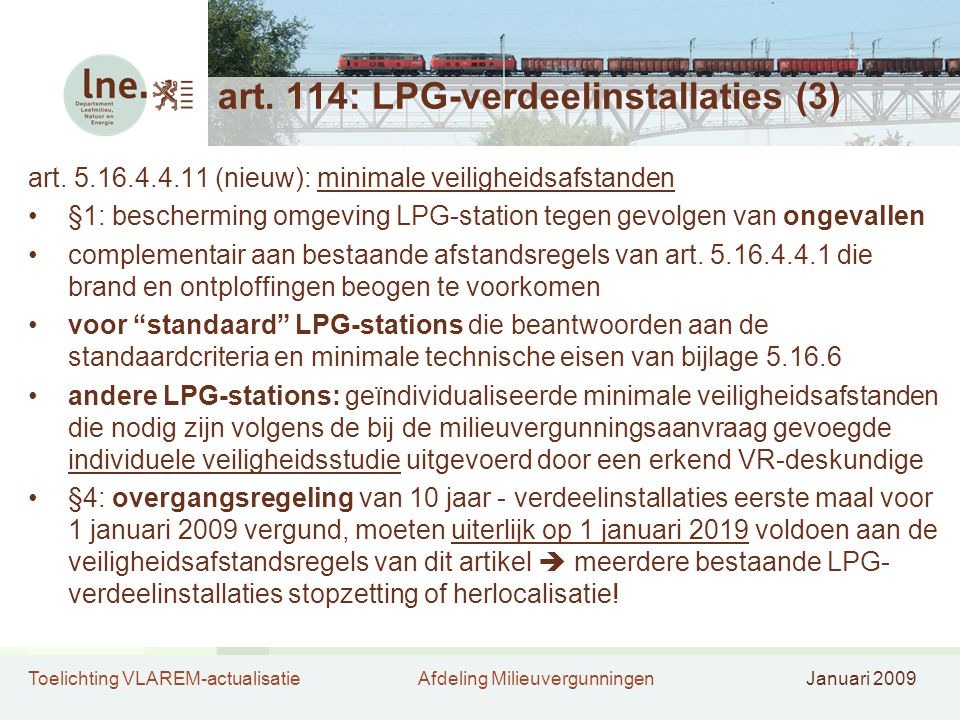 art. 114: LPG-verdeelinstallaties (3)