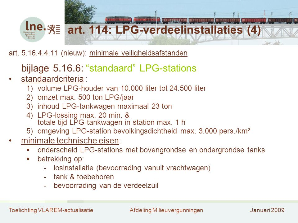 art. 114: LPG-verdeelinstallaties (4)