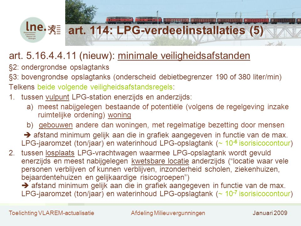 art. 114: LPG-verdeelinstallaties (5)
