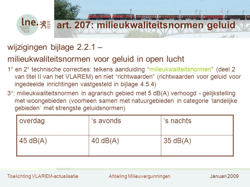art. 207: milieukwaliteitsnormen geluid
