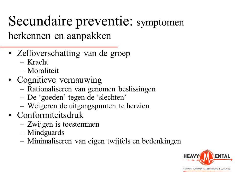 Secundaire preventie: symptomen herkennen en aanpakken