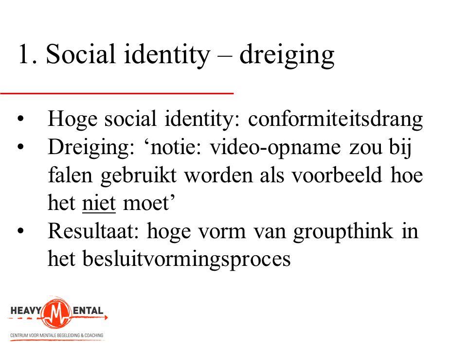 1. Social identity – dreiging