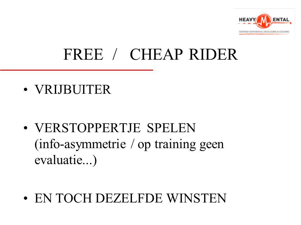 FREE / CHEAP RIDER VRIJBUITER