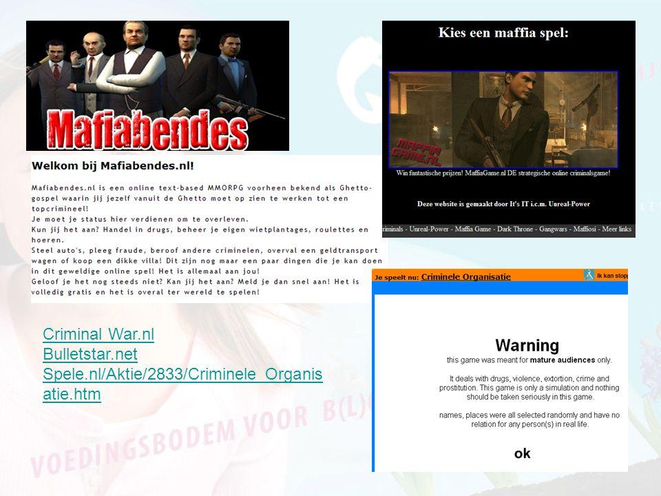 Criminal War.nl Bulletstar.net Spele.nl/Aktie/2833/Criminele_Organisatie.htm