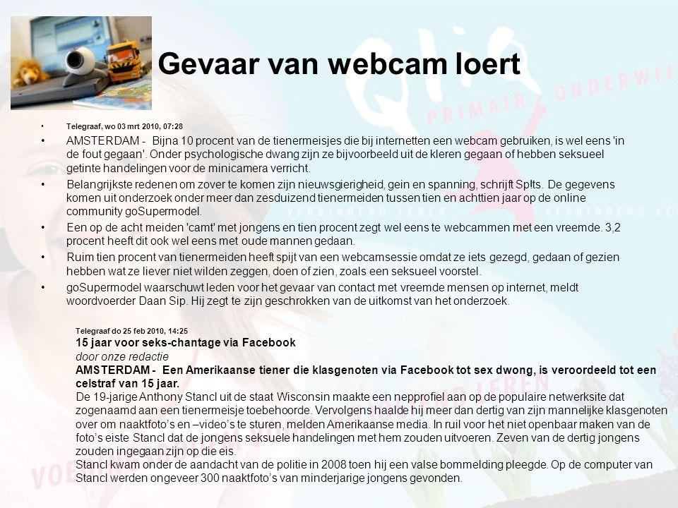 Gevaar van webcam loert