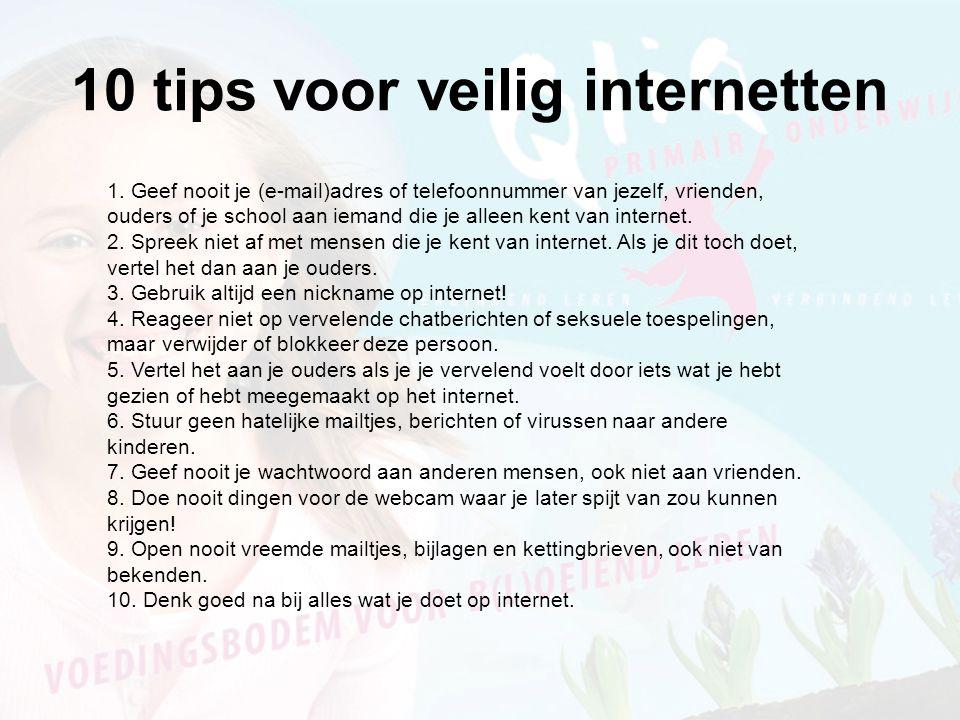 10 tips voor veilig internetten