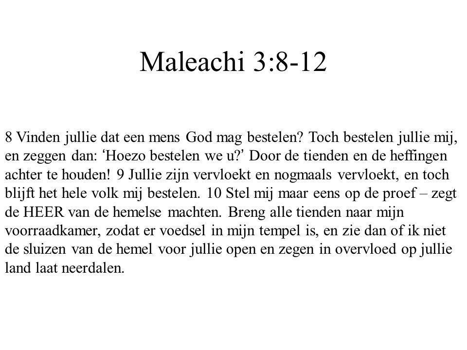 Maleachi 3:8-12
