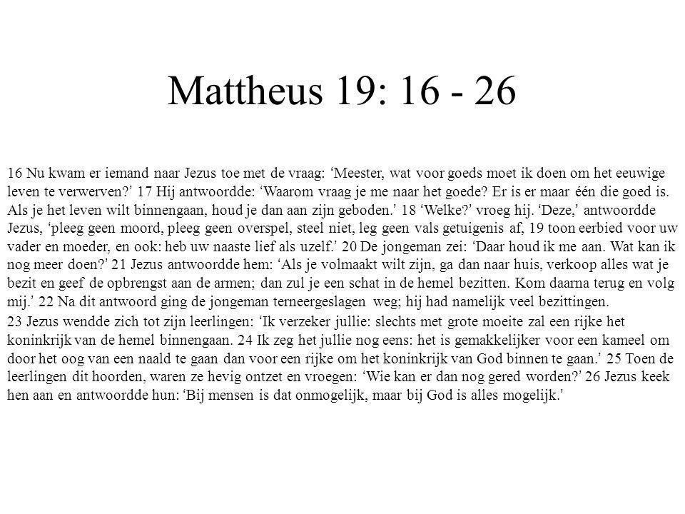 Mattheus 19: 16 - 26