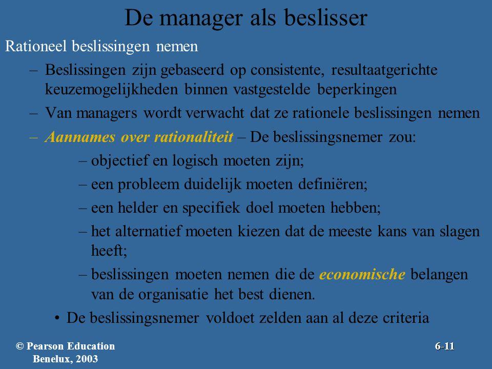 De manager als beslisser