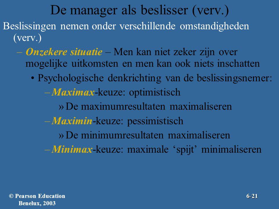 De manager als beslisser (verv.)