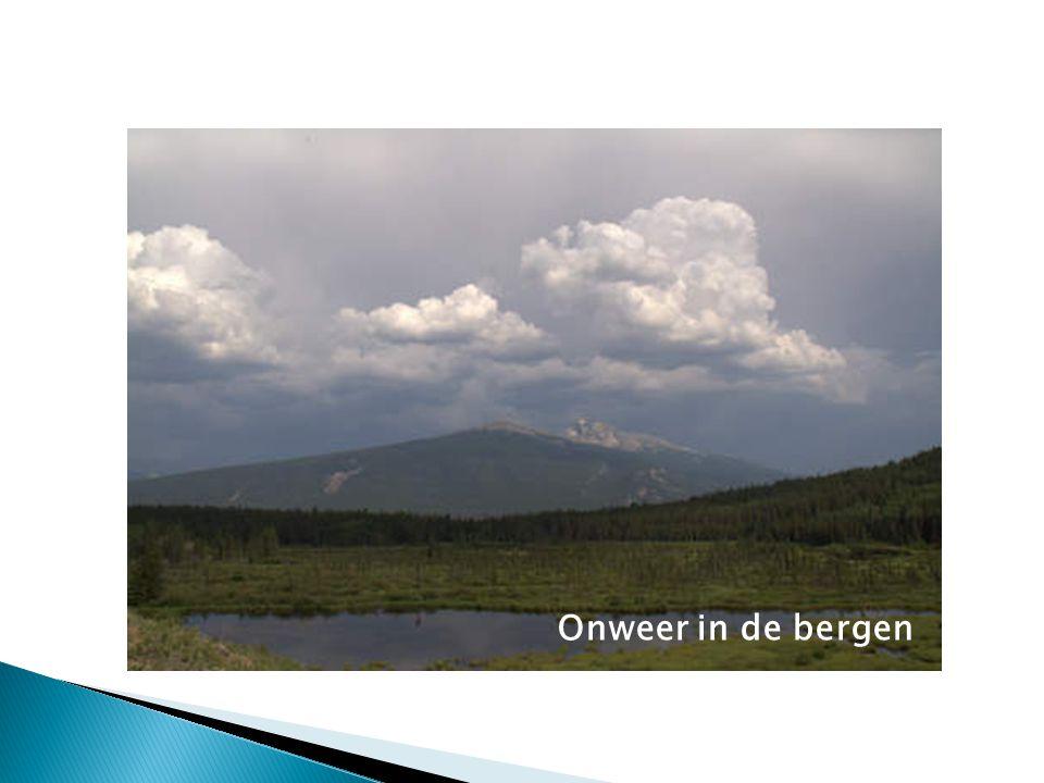 Onweer in de bergen