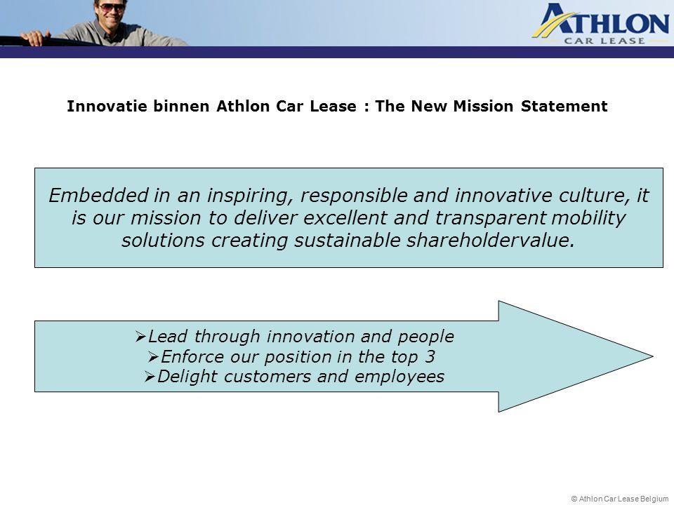 Innovatie binnen Athlon Car Lease : The New Mission Statement