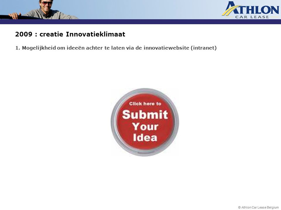 2009 : creatie Innovatieklimaat