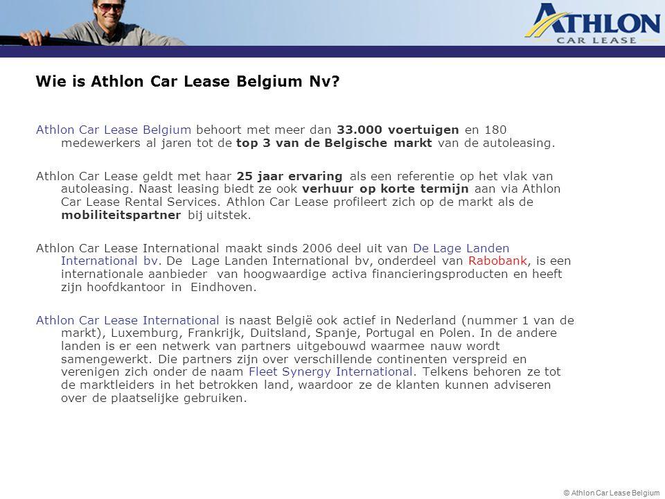 Wie is Athlon Car Lease Belgium Nv