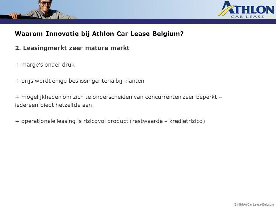 Waarom Innovatie bij Athlon Car Lease Belgium