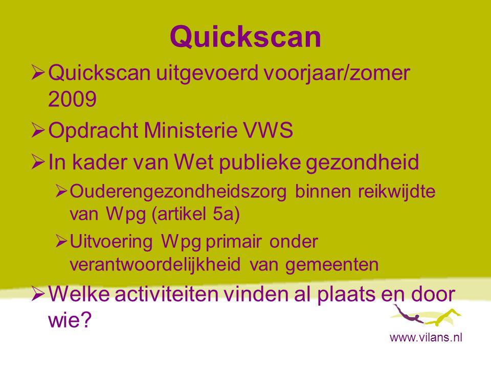 Quickscan Quickscan uitgevoerd voorjaar/zomer 2009
