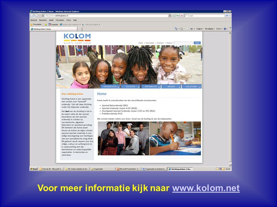 Voor meer informatie kijk naar www.kolom.net
