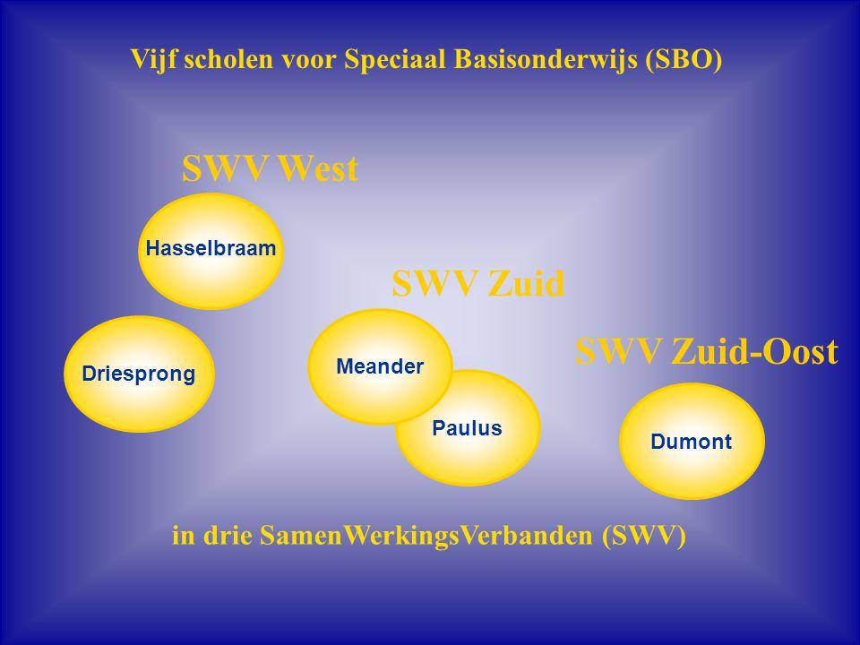 SWV West SWV Zuid SWV Zuid-Oost