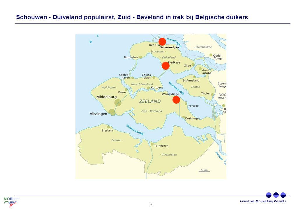 Schouwen - Duiveland populairst, Zuid - Beveland in trek bij Belgische duikers