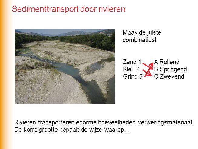 Sedimenttransport door rivieren