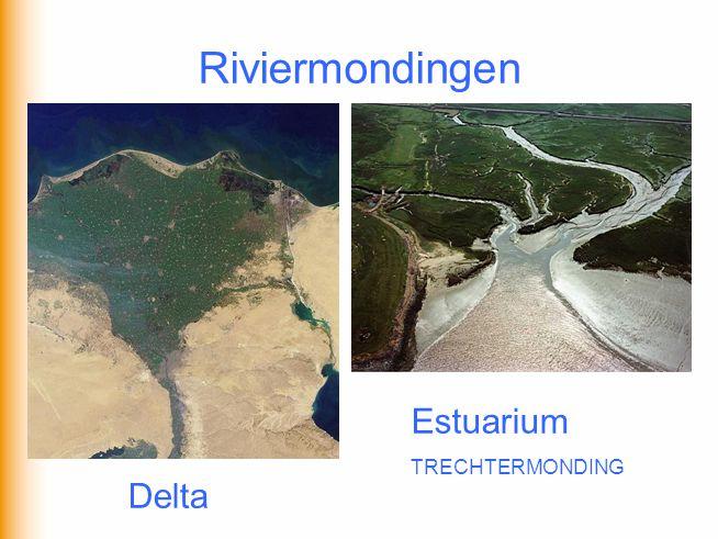 Riviermondingen Estuarium TRECHTERMONDING Delta