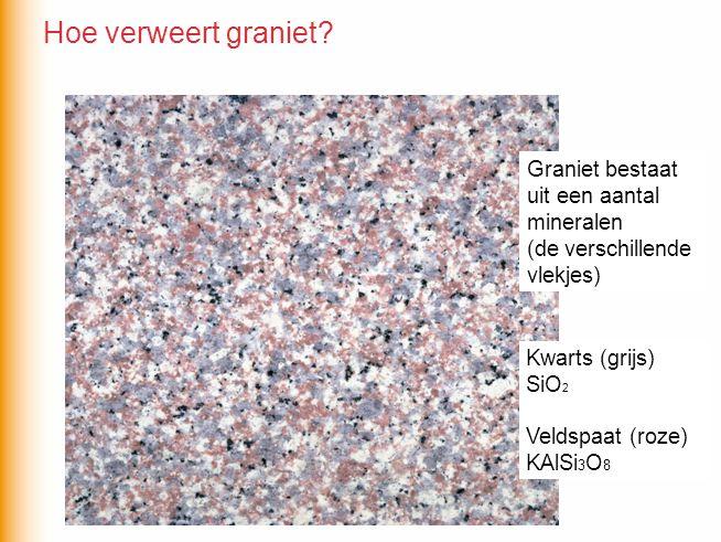 Hoe verweert graniet Graniet bestaat uit een aantal mineralen