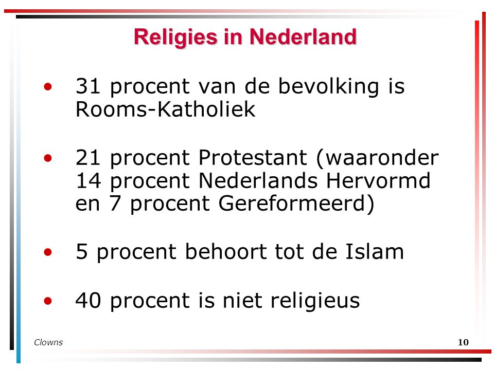 Religies in Nederland 31 procent van de bevolking is Rooms-Katholiek