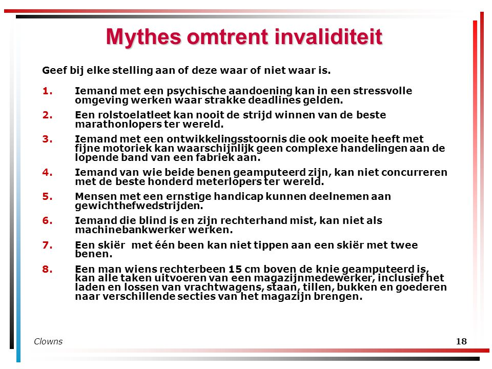 Mythes omtrent invaliditeit