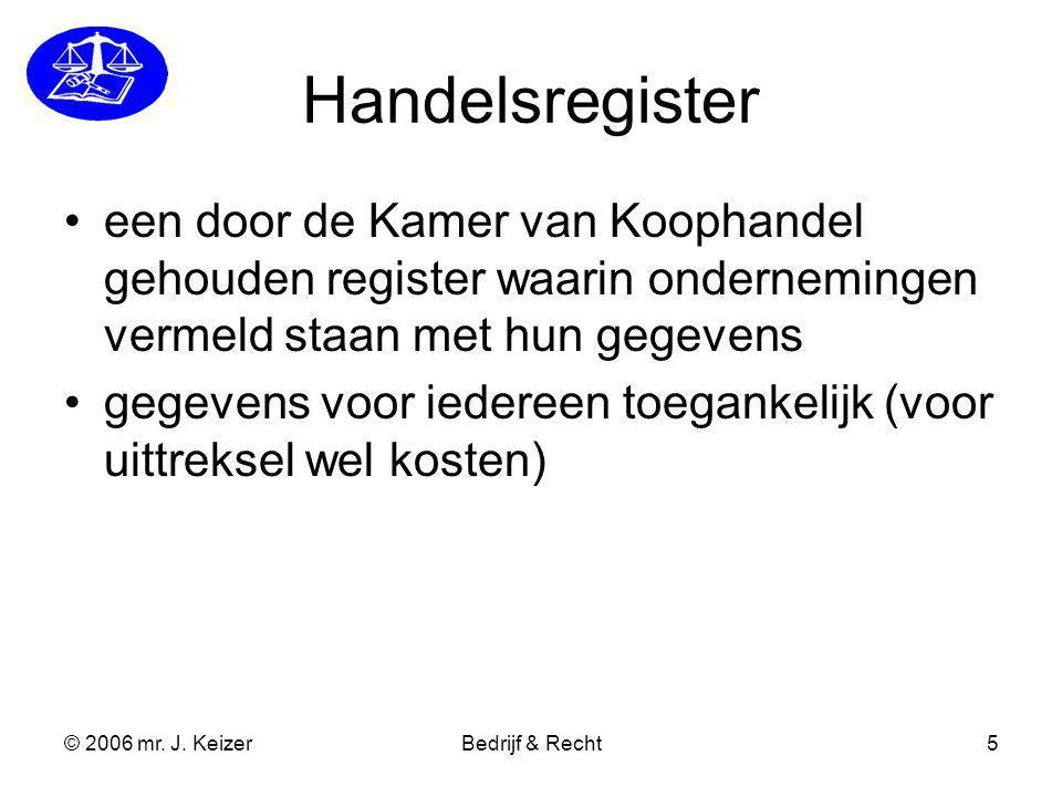 Handelsregister een door de Kamer van Koophandel gehouden register waarin ondernemingen vermeld staan met hun gegevens.