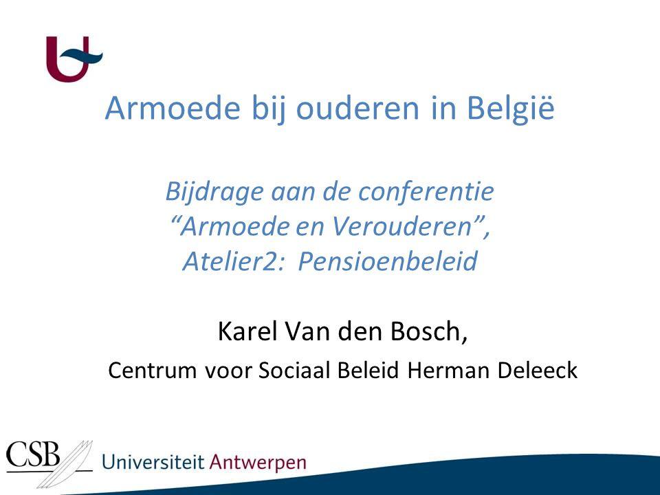 Overzicht Inkomen en armoede bij Belgische ouderen, vergeleken met hun leeftijdsgenoten in buurlanden.
