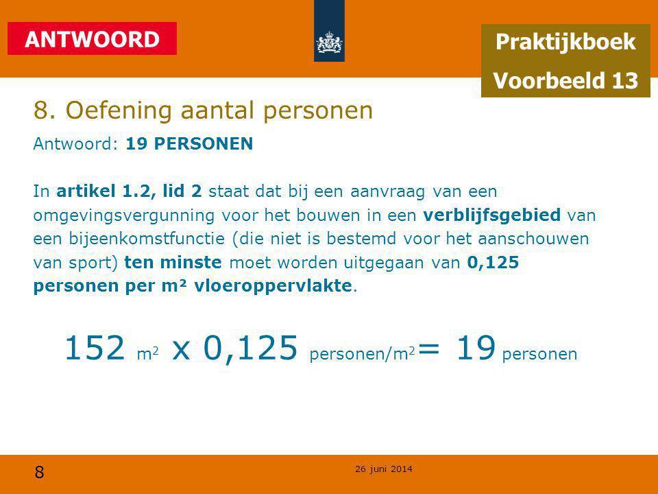 8. Oefening aantal personen