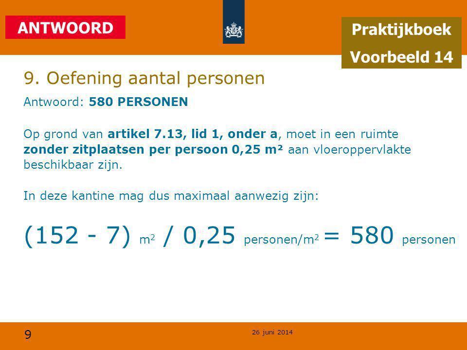 9. Oefening aantal personen