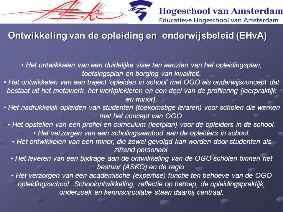 Ontwikkeling van de opleiding en onderwijsbeleid (EHvA)