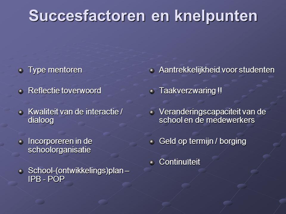 Succesfactoren en knelpunten