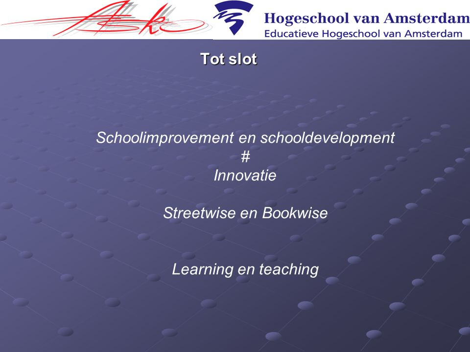 Schoolimprovement en schooldevelopment # Innovatie