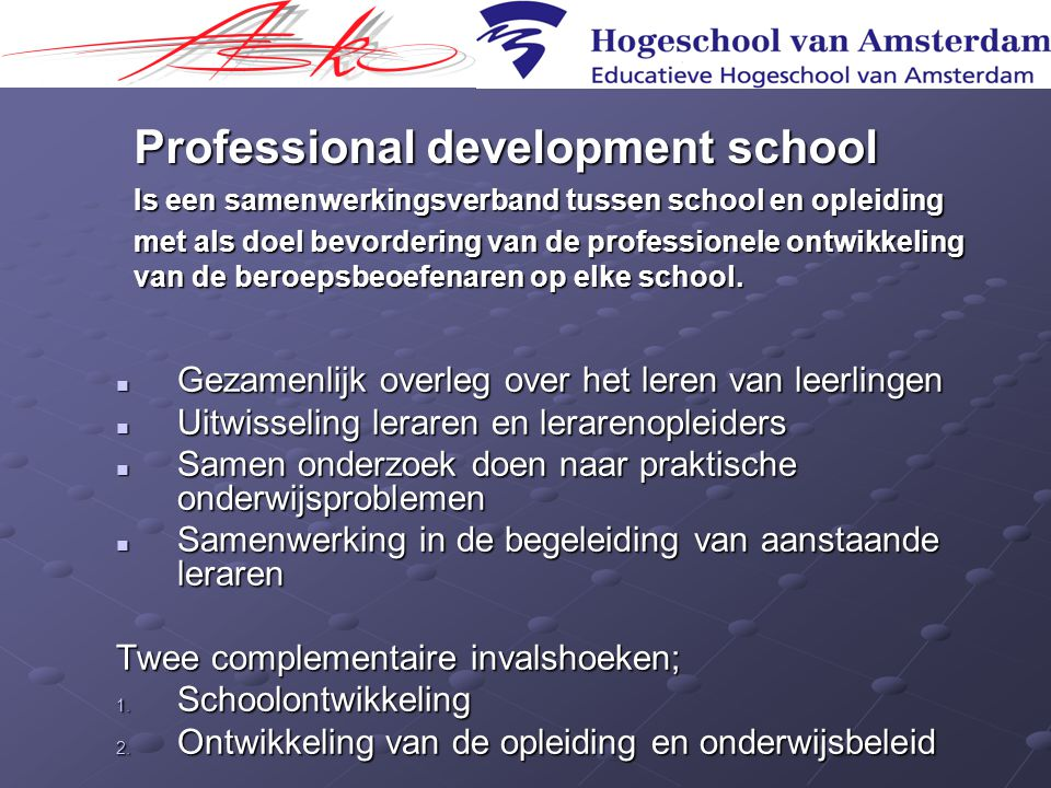 Professional development school