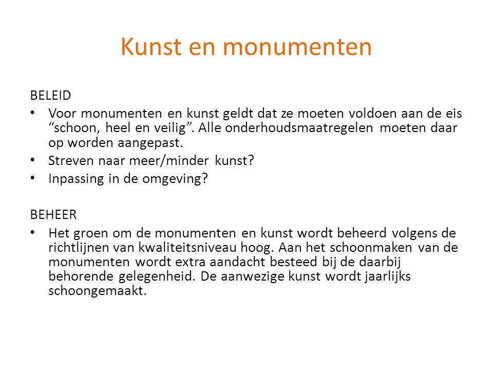 Kunst en monumenten BELEID