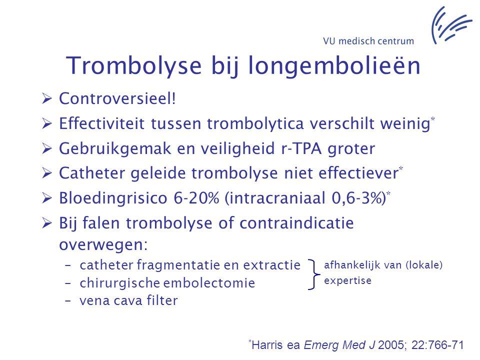 Trombolyse bij longembolieën