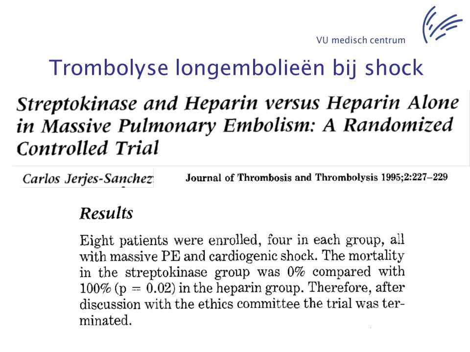 Trombolyse longembolieën bij shock
