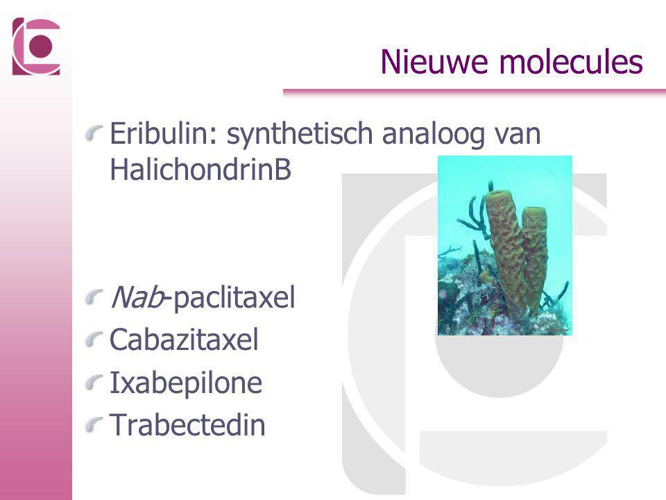 Nieuwe molecules Eribulin: synthetisch analoog van HalichondrinB