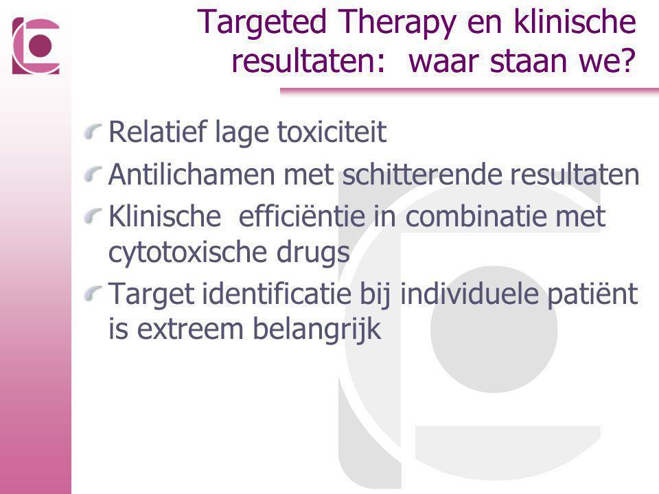 Targeted Therapy en klinische resultaten: waar staan we