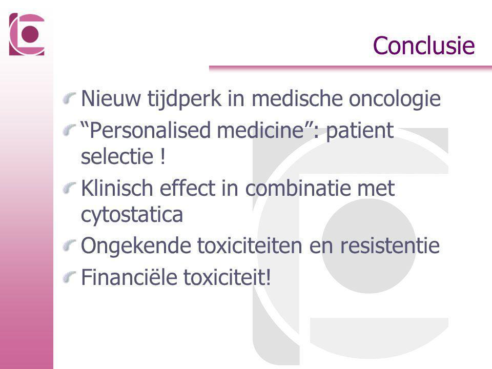 Conclusie Nieuw tijdperk in medische oncologie