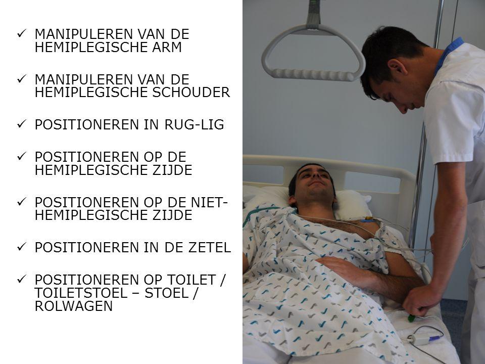MANIPULEREN VAN DE HEMIPLEGISCHE ARM