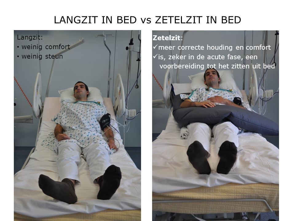 LANGZIT IN BED vs ZETELZIT IN BED