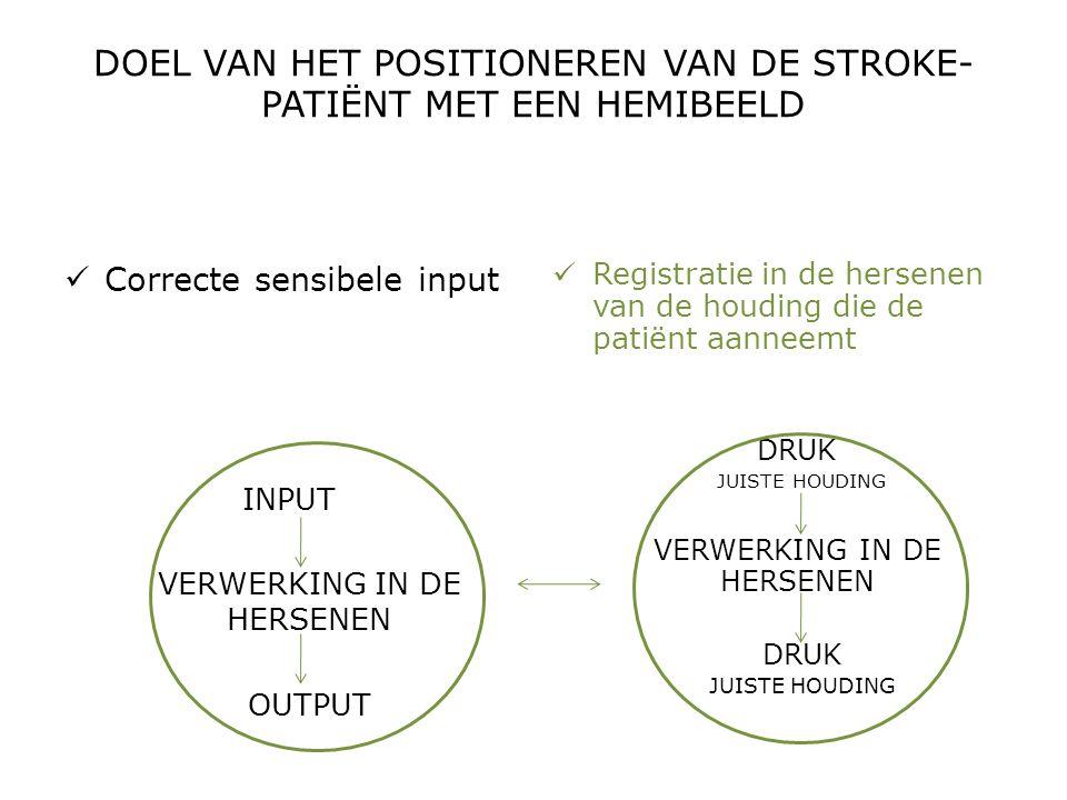 DOEL VAN HET POSITIONEREN VAN DE STROKE-PATIËNT MET EEN HEMIBEELD