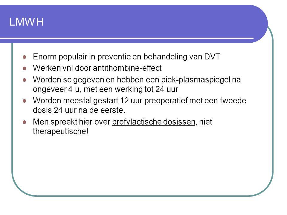 LMWH Enorm populair in preventie en behandeling van DVT