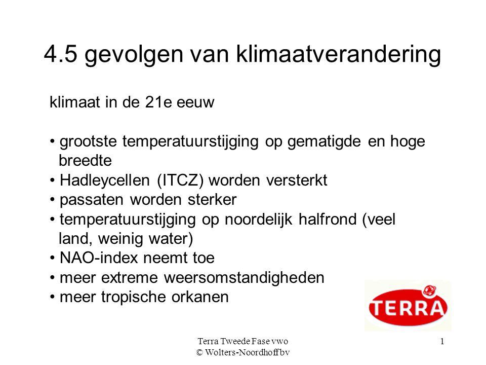 4.5 gevolgen van klimaatverandering