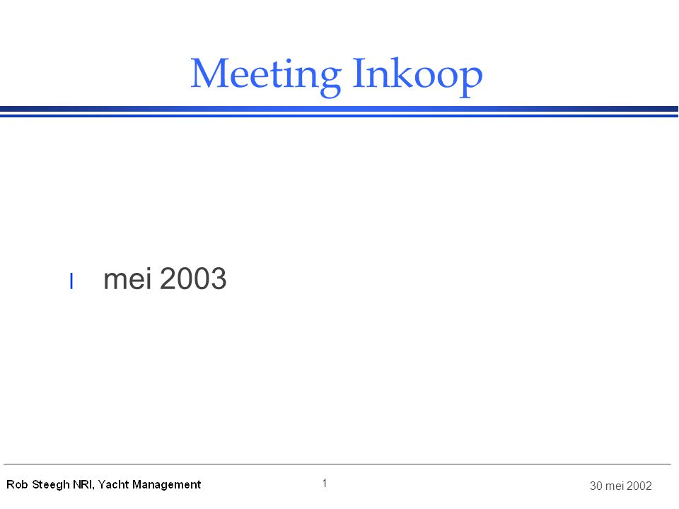 Meeting Inkoop mei 2003